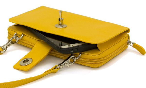 ili Leather Smartphone Crossbody Wallet with RFB